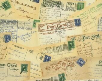 RJR, Stephanie Wright, Adventures, Postcards Fabric - Half Yard
