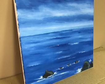 Stones in the Sea - Oil on Canvas