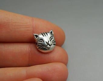 SET of 3 Silver Pearl cat animal feline Kitty (F37)