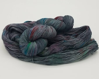 Hand Dyed Superwash Merino Nylon Wool Sock Yarn - Kitchen Sink, hand dyed yarn, hand painted yarn, sock yarn, yarn, speckled yarn