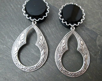 "Dangle Plugs - 3/4"" 19mm - Wedding Gauges - Tribal Plugs - Gothic Gauges - Plug Earrings"