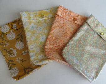Ouch Pouch 4 pack Medium 5x7 Clear Front Diaper Bag Purse Backpack Orgainzer First Aid Kids Baby Supplies Mother Teacher Gift Fabric Choices