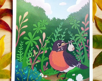 Print: Journey of a Robin