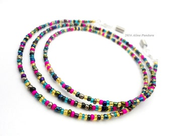 Colorful Eyeglass Chain, Boho Chic Glasses Chain Multicolor Eye Glass Chain Simple Reading Glasses Lanyard, Womens Eyeglasses Chain Necklace