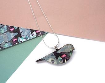 Blue Bird Necklace - Bird Jewellery - Bird Print - Gifts for Women - Stocking Filler - Animal Necklace - Bird Pendant - Mothers Day Gift