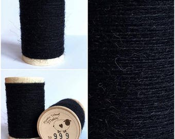 Rustic Moire Wool Thread #999 for Embroidery, Wool Applique and Punch Needle Embroidery