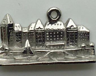 Empress Hotel Victoria BC Sterling Silver Charm Vancouver Island Canada Souvenir Memorabilia Travel  Gifts For Her