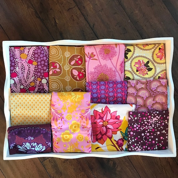 Anna Maria Horner Modern Floral Patchwork and Minky Blanket Made to Order