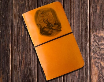 Harry Potter -  FREE PERSONALIZATION - Handmade Moleskine Notebook Leather Cover