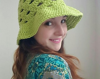 Stacked Shells Sun Hat Crochet Pattern *PDF DOWNLOAD ONLY* Instant download