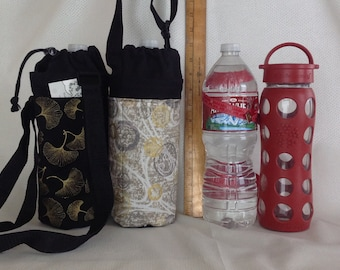 Insulated Tote for 32 - 33.8 oz. (Liter/quart) size containers ginkgo or mon