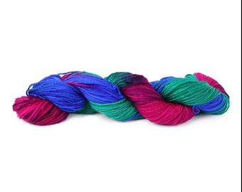 2 Skeins Hand-woven Rainbow Yarn