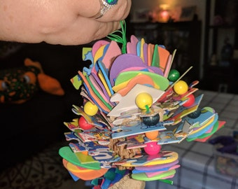 Handmade bird toys for your feathered friends!