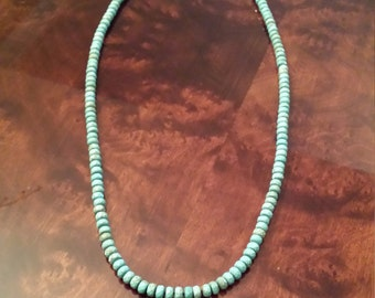 One long strand turquoise necklace