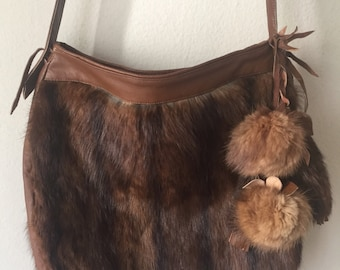 Fur crossbody bag size medium .