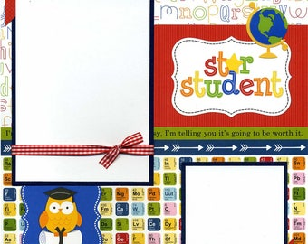 Star Student - 12x12 Premade School Scrapbook Page