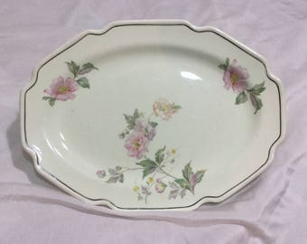 McCoy Pottery 1032C Serving Platter Pink and Purple Flowers