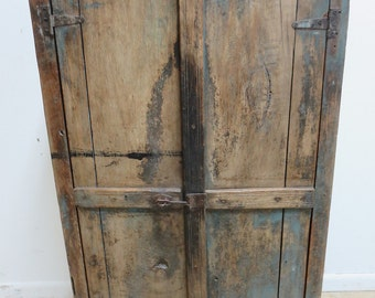 Antique Primitive architectural salvage Hutch China Cabinet Cupboard m O