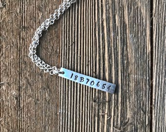 Greyhound Tattoo Charm Sterling Silver - Handstamped Pendant - Sterling Silver Cable Chain Necklace - Made to Order