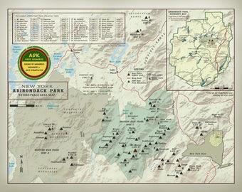 "NYS Adirondack 46er ""Personalized"" Member Map"