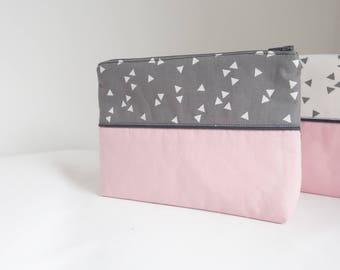 Pink graphic Collection pouch