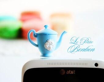 Alice in Wonderland Tea pot cell phone plug cellphone charm