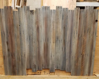 Reclaimed Distressed Pallet Wood Headboard -Queen Size