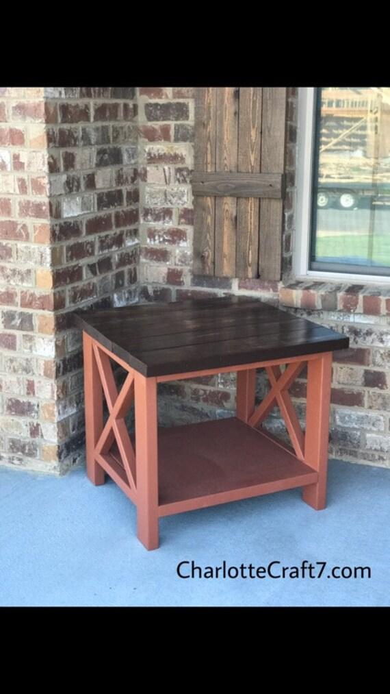 Large farmhouse end table