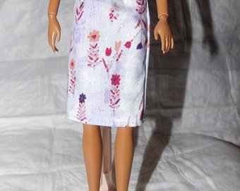 Fashion Doll Coordinates - Skirt in lavendar floral print - es378
