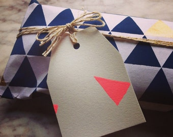 Pink Triangle Gift Tags (pack of 4)