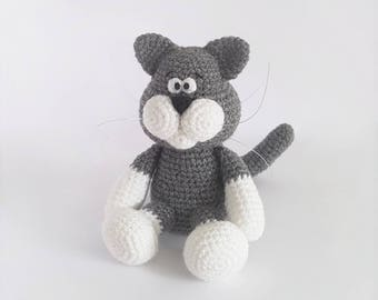 PATTERN: Crochet cat pattern - Amigurumi cat pattern - crocheted kitten pattern - PDF crochet pattern - tutorial