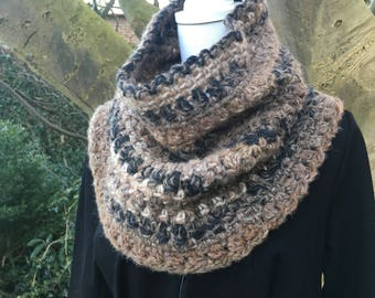 Super soft, warm brown Cowl / neck warmer