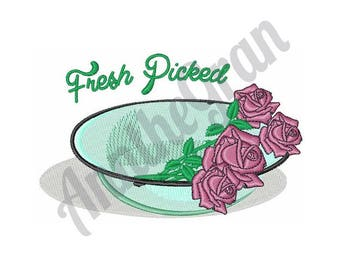 Roses - Machine Embroidery Design, Fresh Picked Flowers