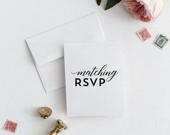 Printable or Printed RSVP Card - Add On Only