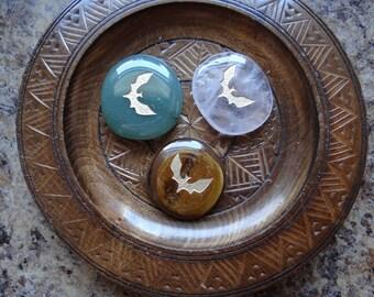 BAT Gemstone Animal Spirit Totem for Spiritual Jewelry or Crafts