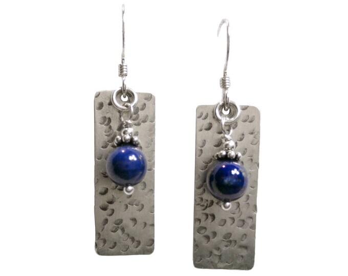 Bead Earrings - Gemstone Earrings - Fresh Water Pearl Earrings - Dangle Earrings - 6mm Bead & Texture #3 - Sterling Silver or 14k Gold Fill