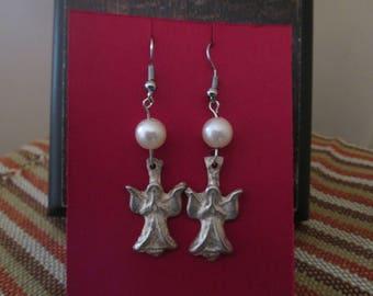 Milagro angel drop earrings