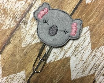Koala Planner Clip, Bookmark, Page Clip, Paper Clip, Planner Accessories