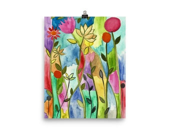 Floral Frenzy Art Poster