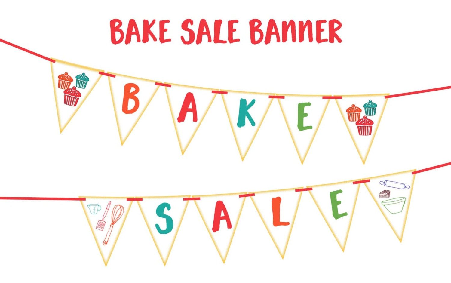 bake sale banner printable party banner and decoration