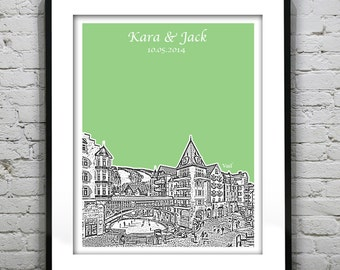 Vail Colorado Wedding Guest Book Guestbook Poster Print Engagement Gift - Colorado