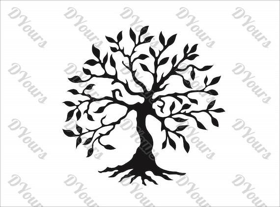 Large Olive Tree Vector Model svg cdr pdf dxf files