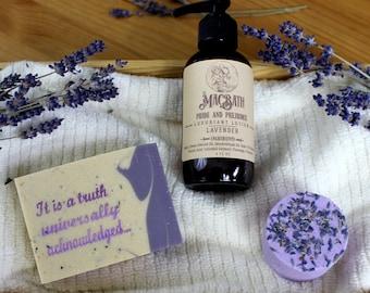 Pride and Prejudice Soap, Lotion, and Bath Bomb Set