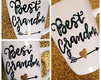Custom Calligraphy Coffee Mug, Ceramic White or Black Coffee Mug, Personalize how you wish in a variety of colors!