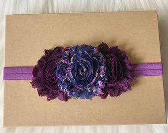 Plum Headband, Purple Headband, Eggplant Headband, Baby Headband, Infant Headband, Newborn Headband, Baby Girl Headband, Fall Headband, Baby