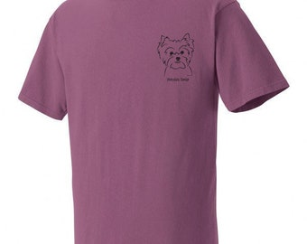 Yorkshire Terrier Garment Dyed Cotton T-shirt