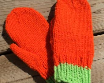 Child Xsmall, Warm Knit Mittens, Child's mittens