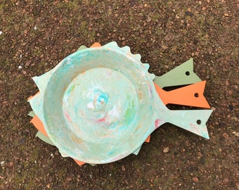 Vintage Set Of 3 Regaline Plastic Fish Paper Plate Holders : plastic fish plates - pezcame.com