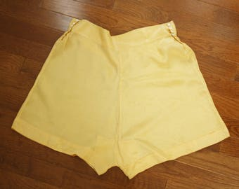 1930s tap pants | vintage 30s yellow silk knickers