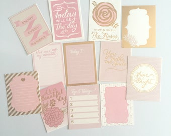 Journal / Project Life-inspired Cards: Blush Pink and Gold Glam!
